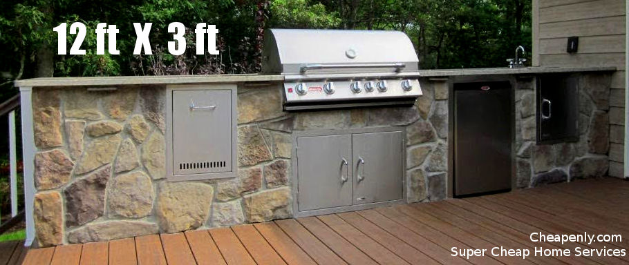 $6,000 Complete Cheap Outdoor Kitchen In Houston | Cheapenly.com